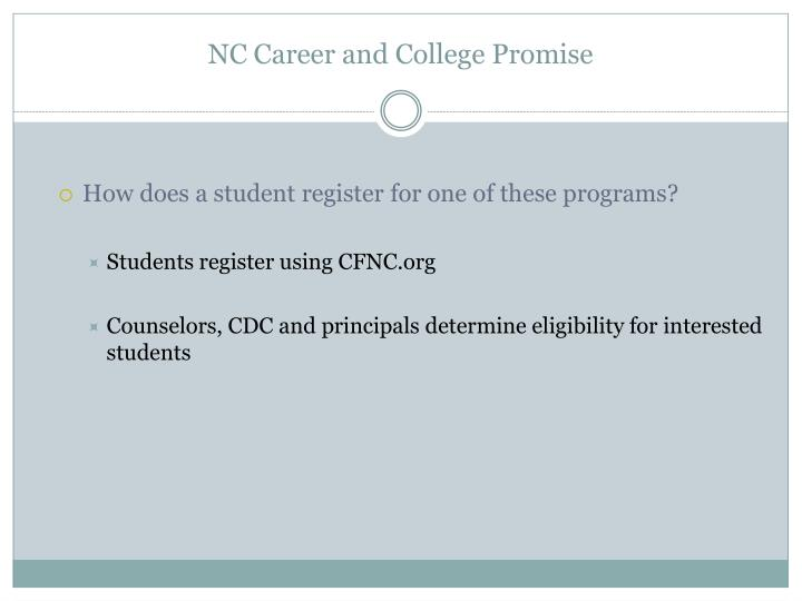 NC Career and College Promise