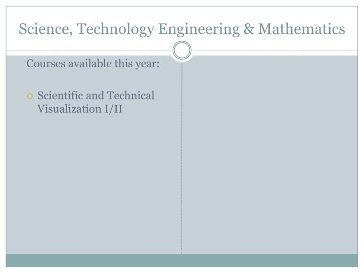 Science, Technology Engineering & Mathematics