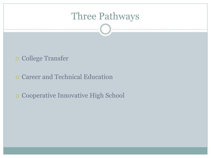 Three Pathways