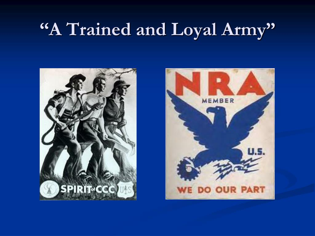 """""""A Trained and Loyal Army"""""""