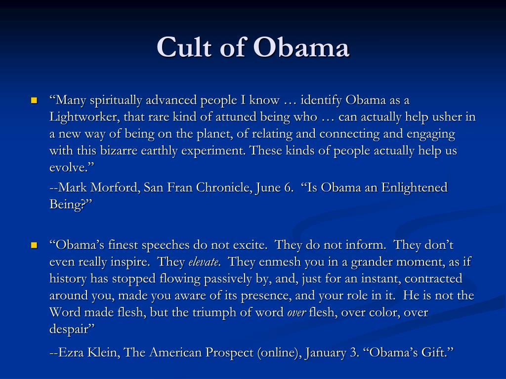 Cult of Obama