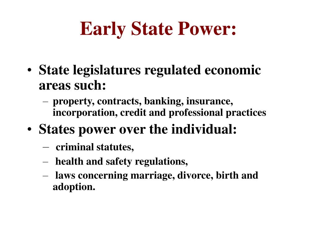 Early State Power: