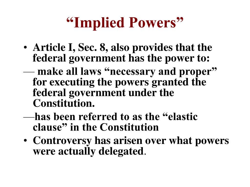 """Implied Powers"""