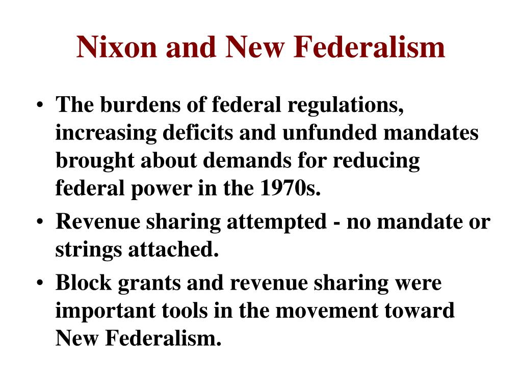 Nixon and New Federalism