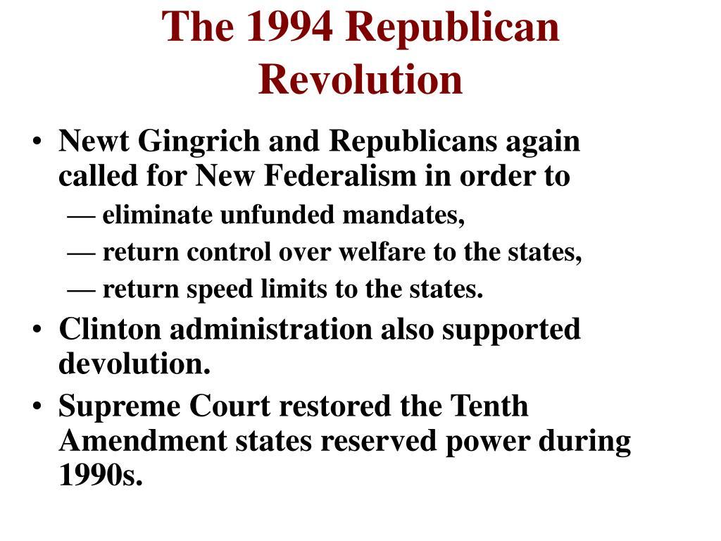 The 1994 Republican Revolution