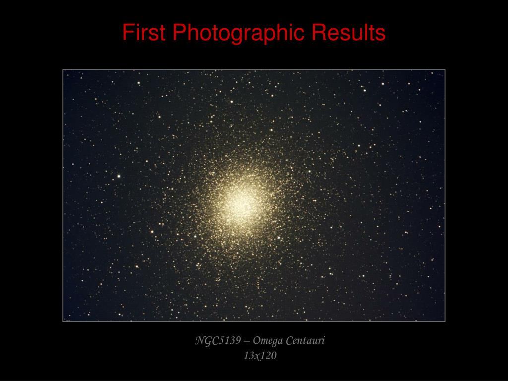 First Photographic Results