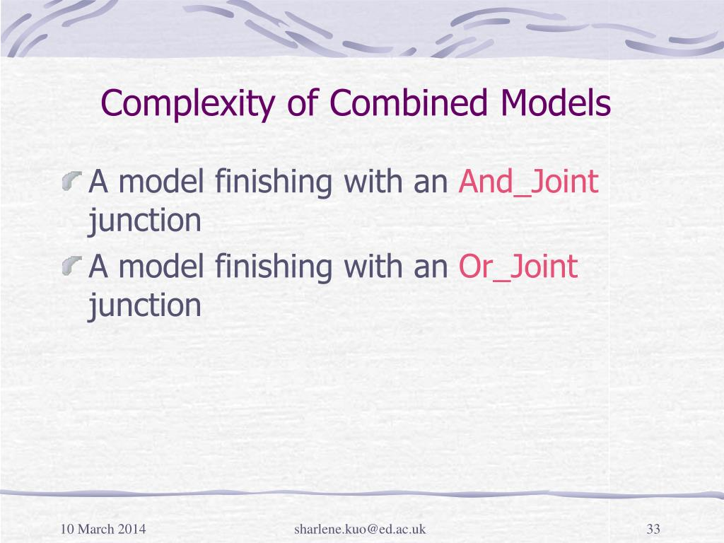 Complexity of Combined Models