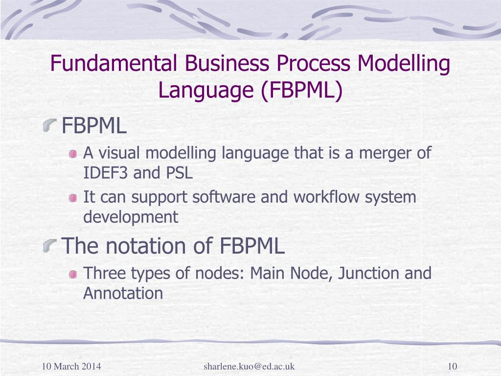 Fundamental Business Process Modelling Language (FBPML)