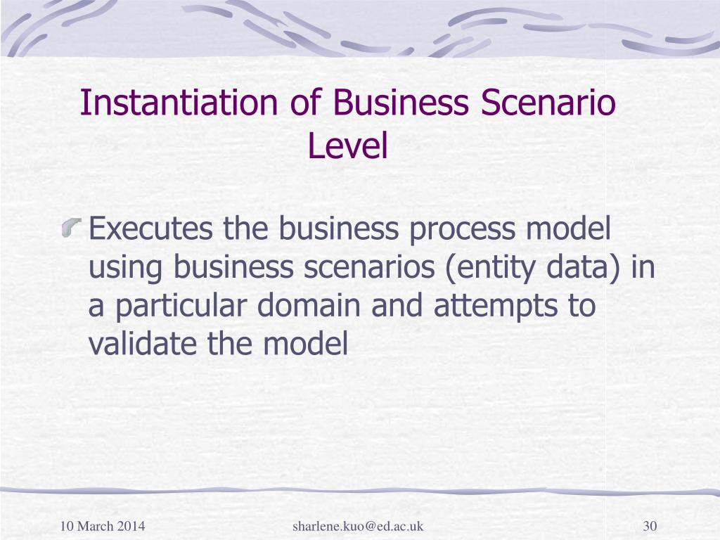 Instantiation of Business Scenario Level