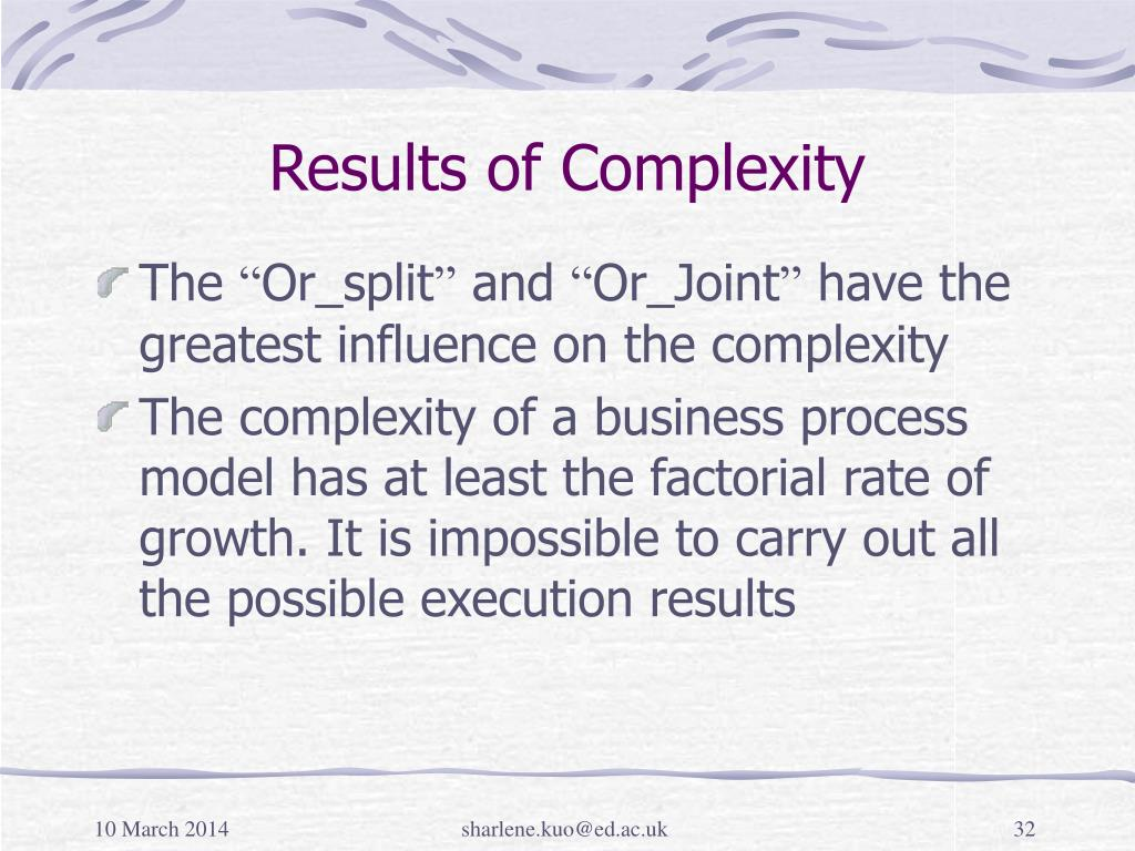 Results of Complexity