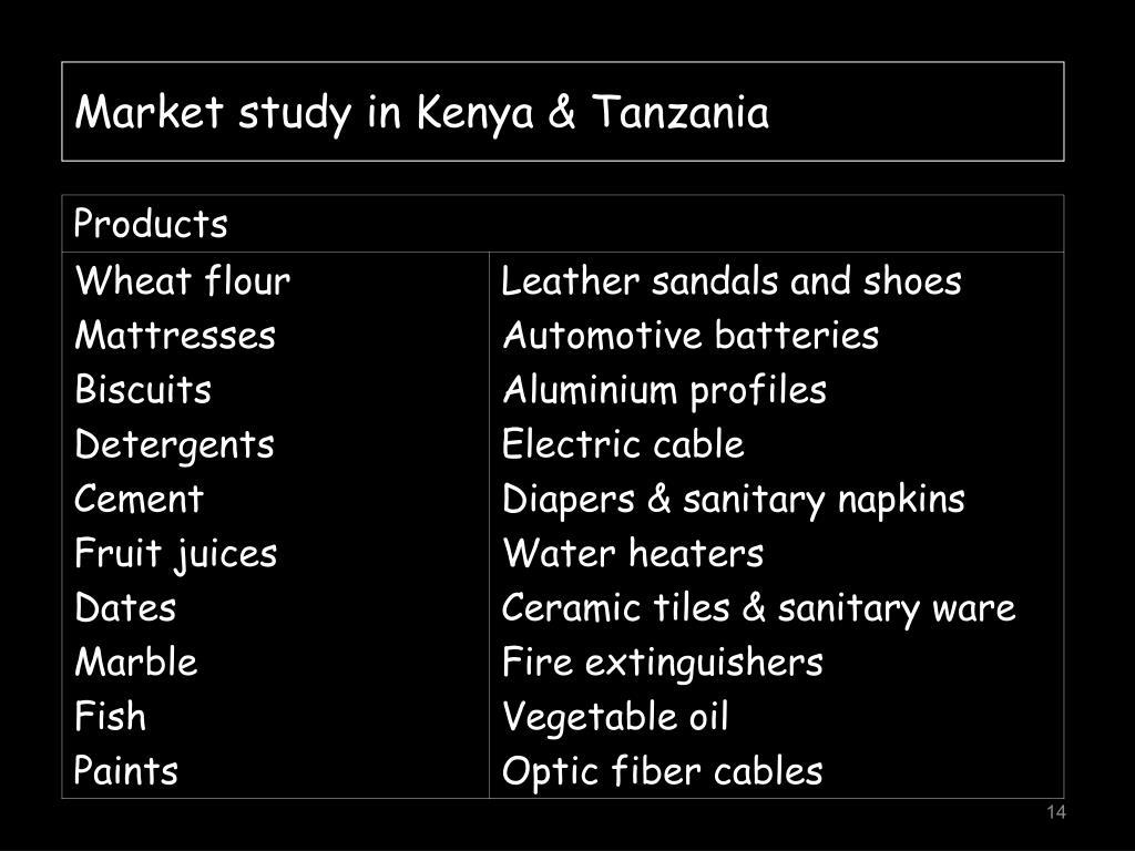 Market study in Kenya & Tanzania
