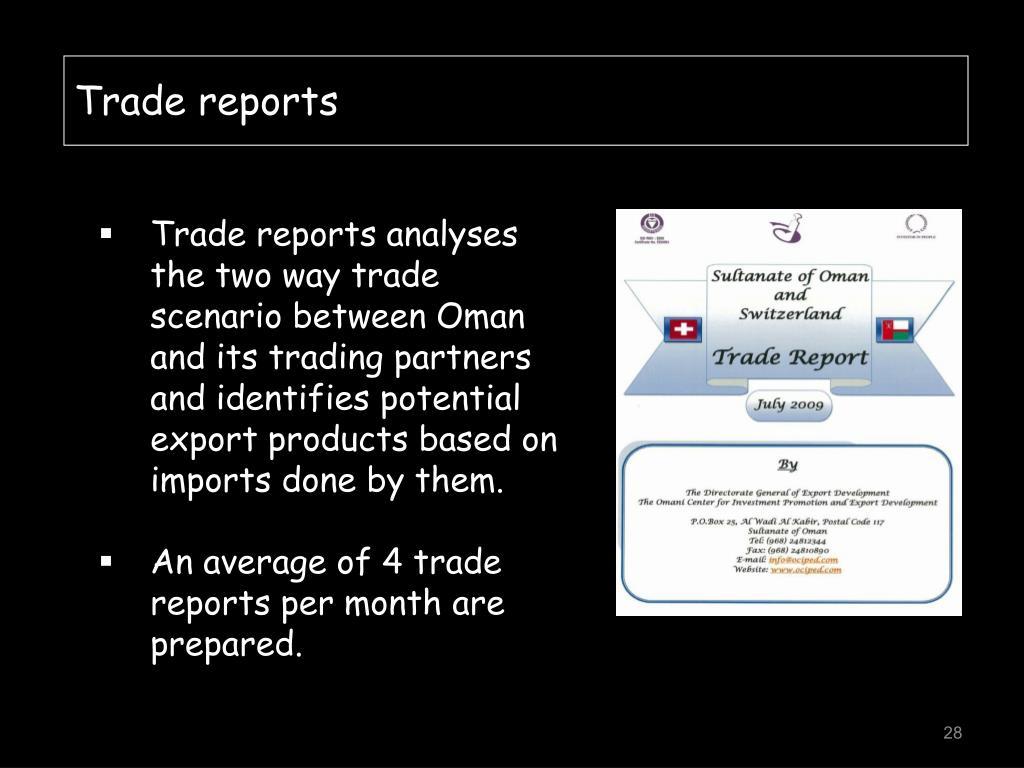 Trade reports