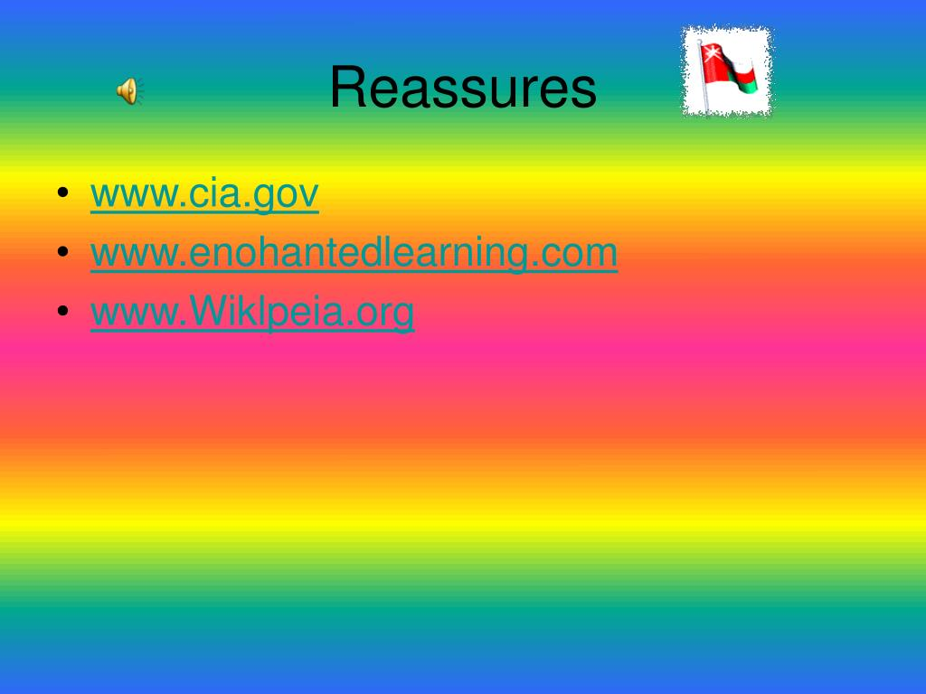 Reassures
