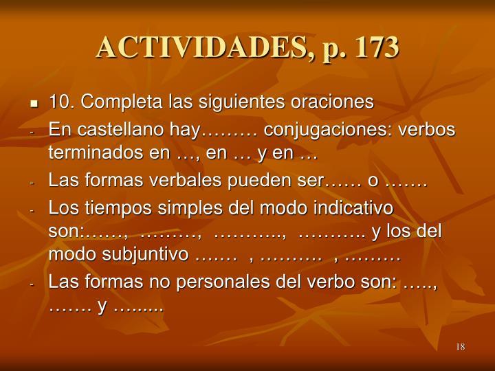 ACTIVIDADES, p. 173