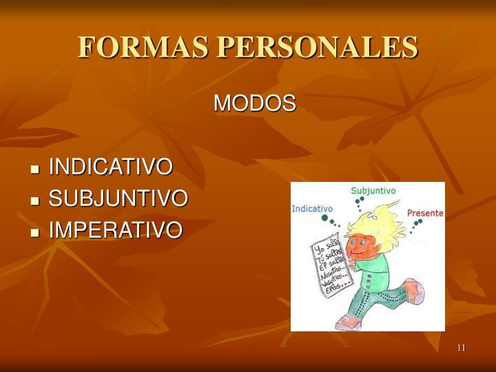FORMAS PERSONALES