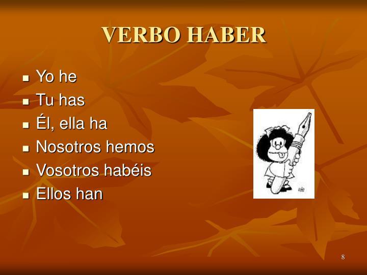 VERBO HABER