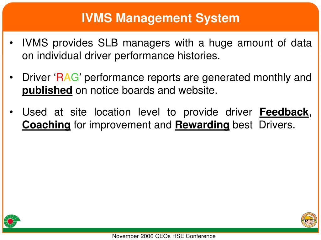 IVMS Management System