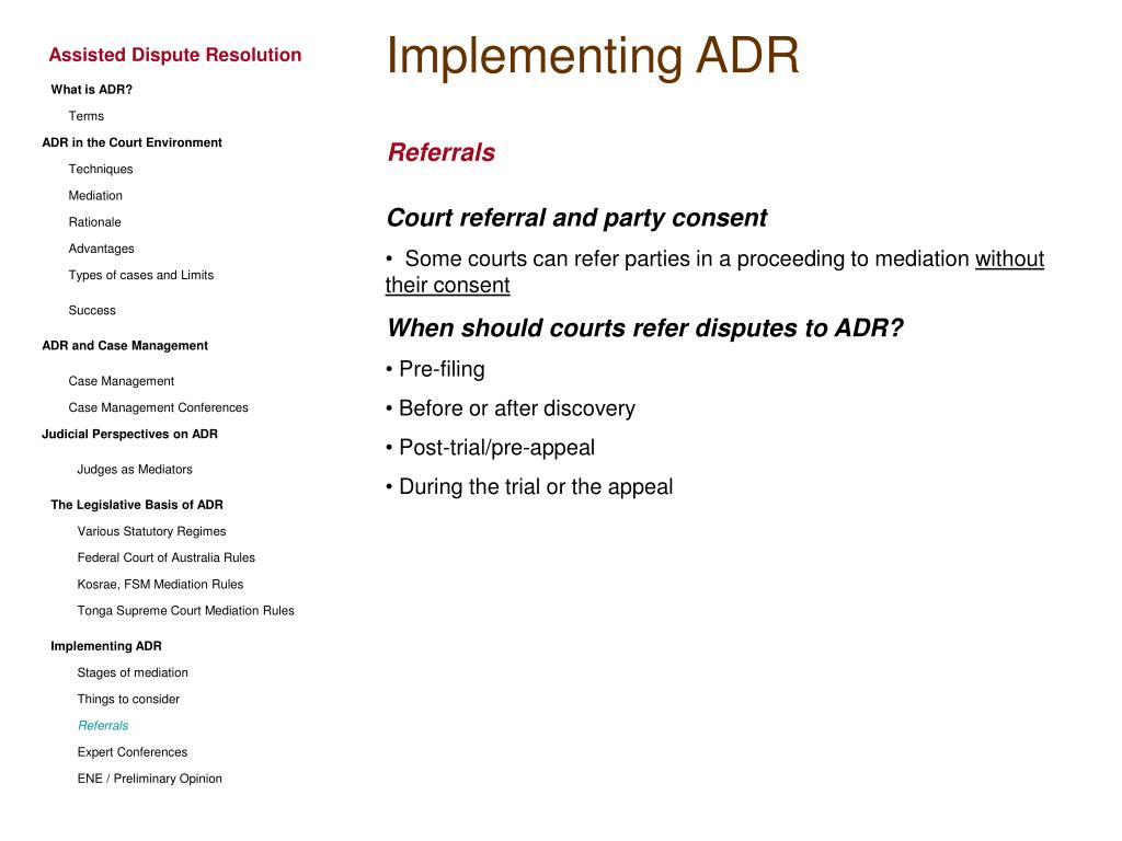 Implementing ADR