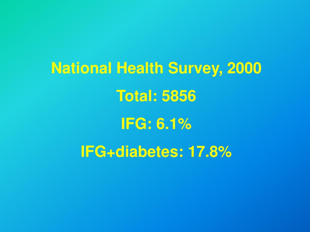 National Health Survey, 2000