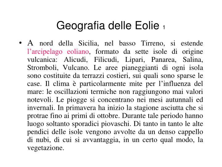 Geografia delle Eolie