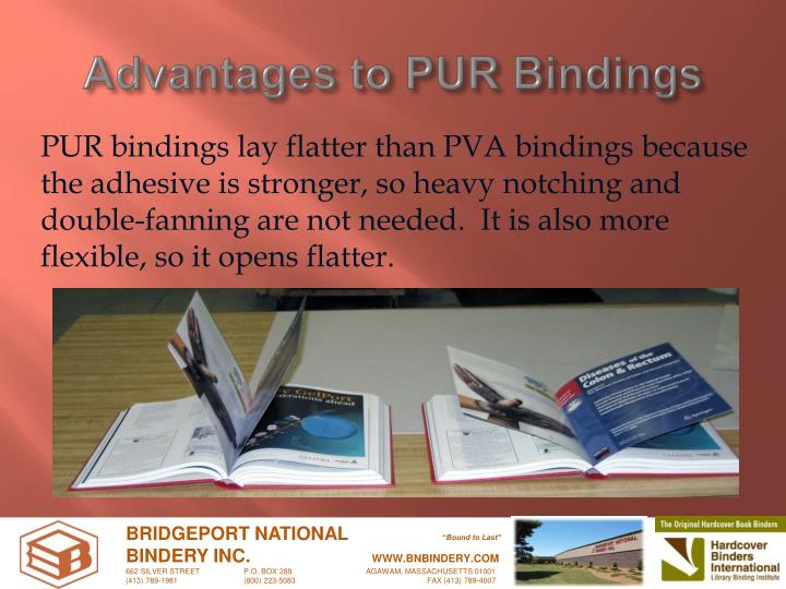 Advantages to PUR Bindings