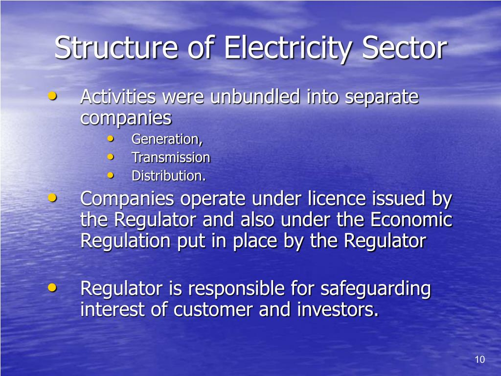 Structure of Electricity Sector