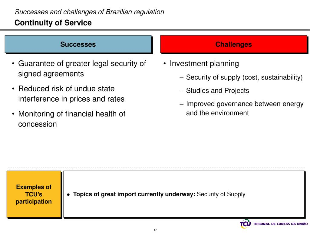 Successes and challenges of Brazilian regulation