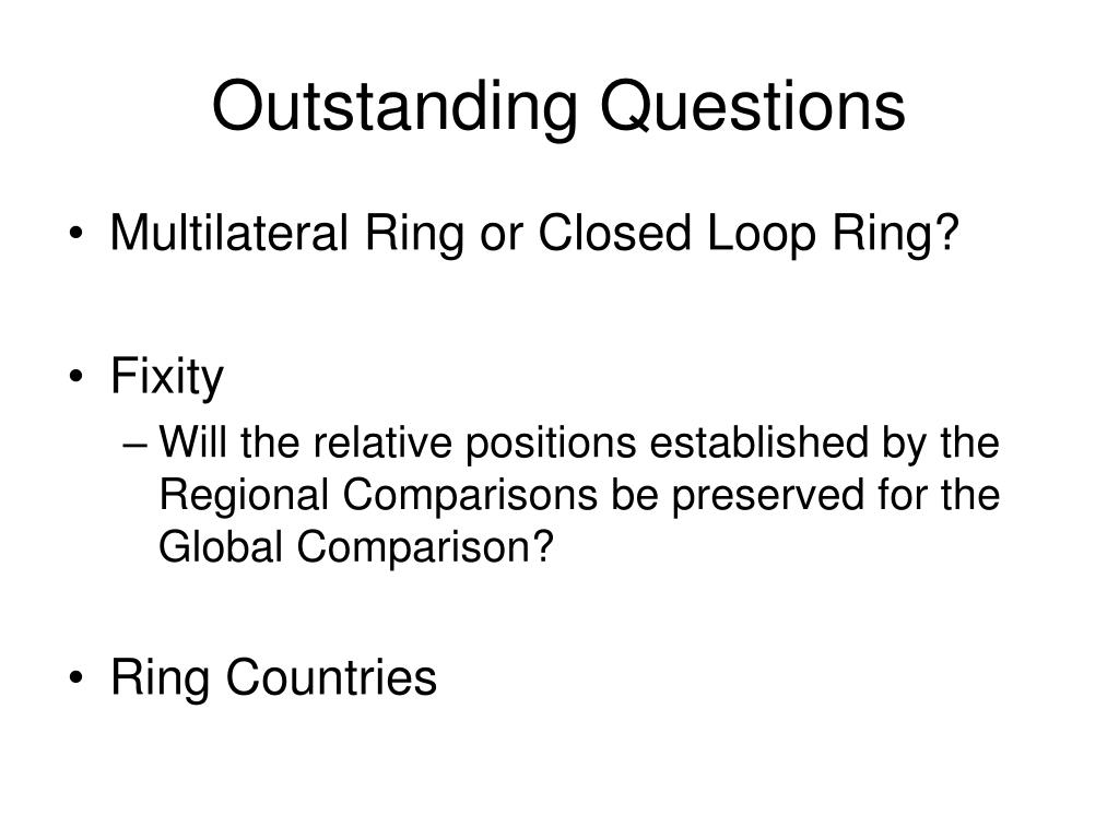 Outstanding Questions