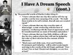 i have a dream speech cont