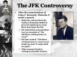 the jfk controversy