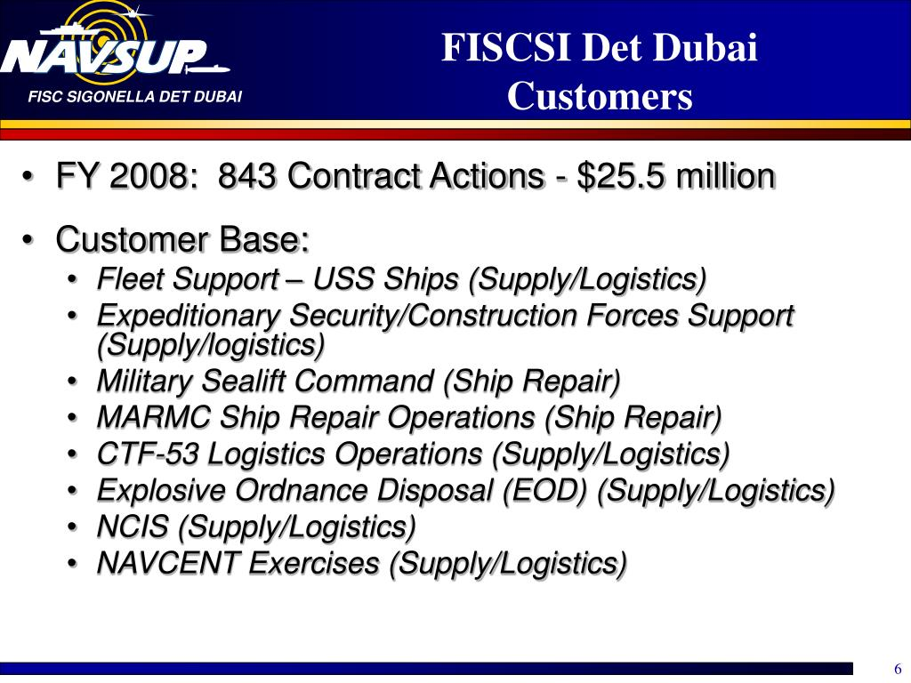 FISCSI Det Dubai Customers