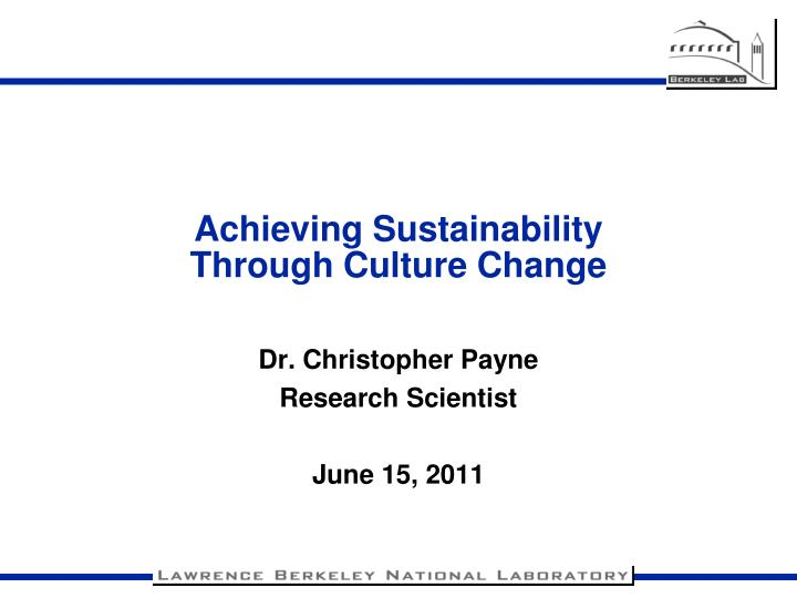 achieving sustainability through culture change