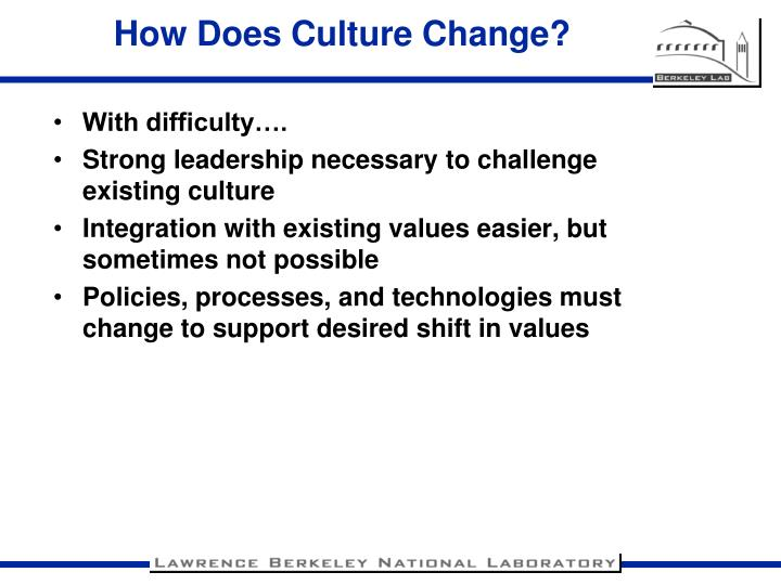 How Does Culture Change?