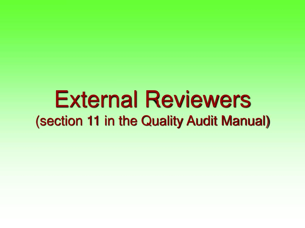 External Reviewers