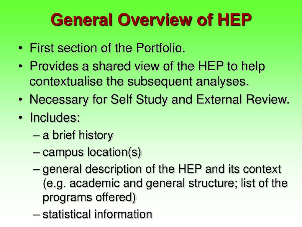 General Overview of HEP