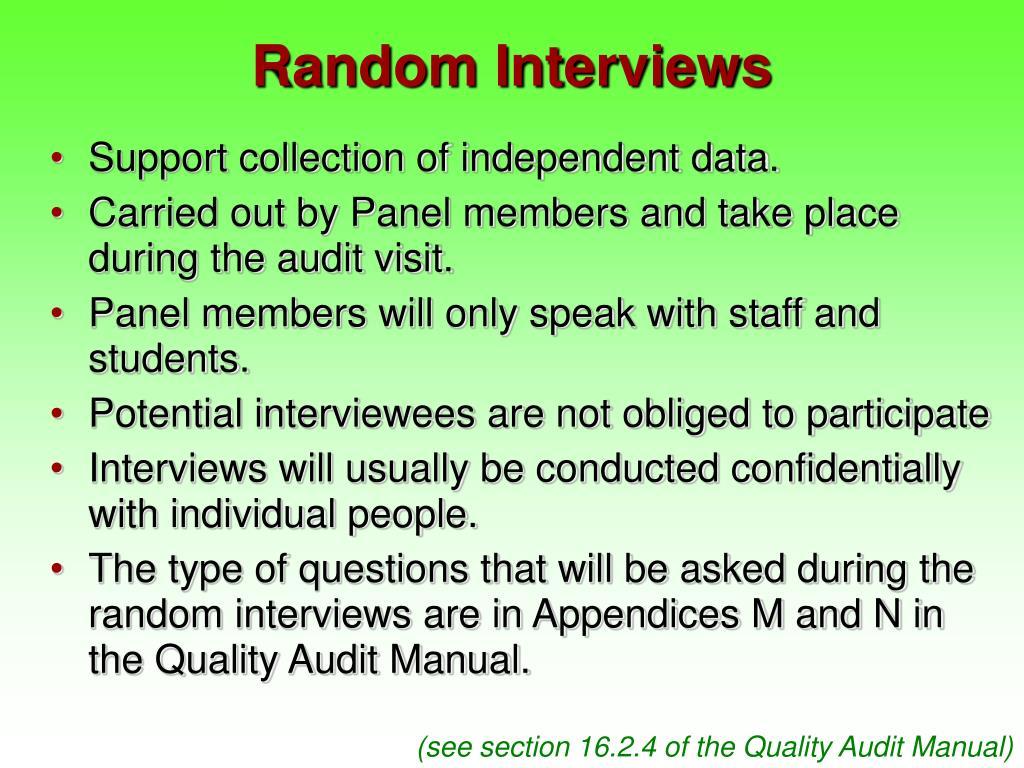 Random Interviews