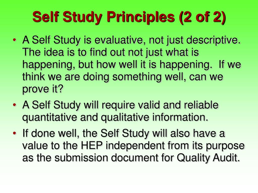 Self Study Principles (2 of 2)