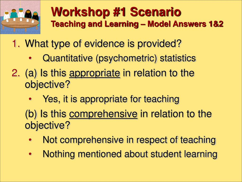 Workshop #1 Scenario