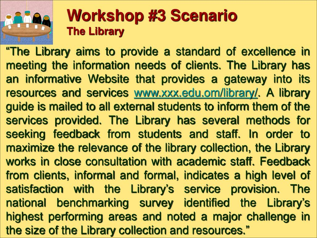 Workshop #3 Scenario