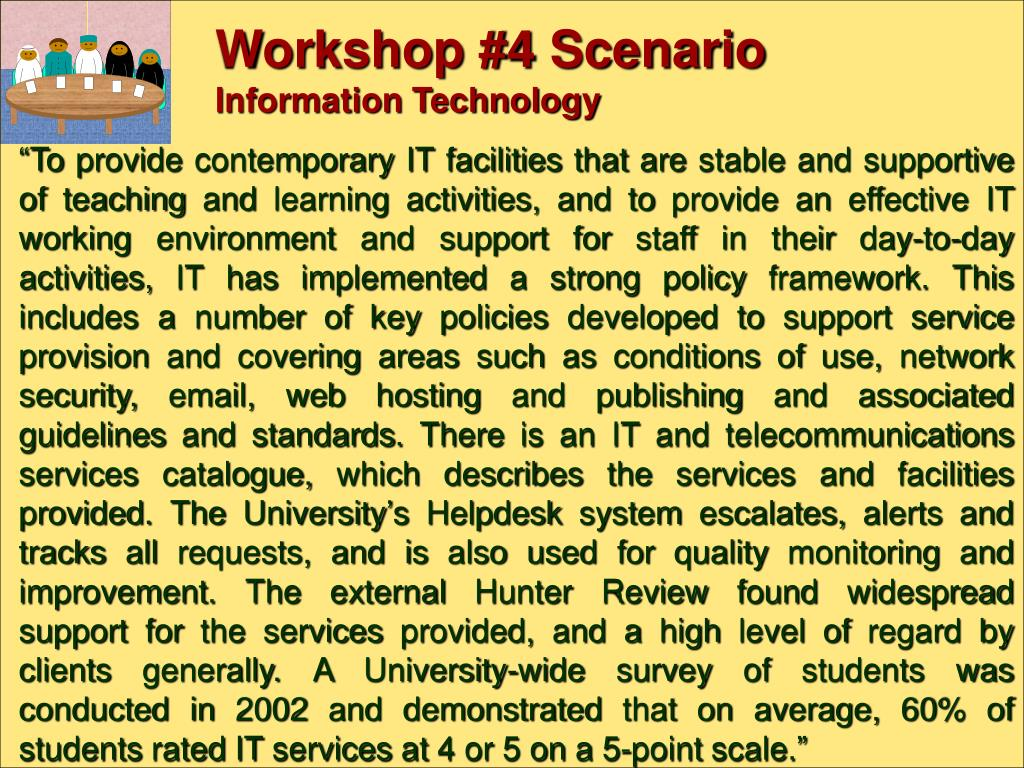 Workshop #4 Scenario
