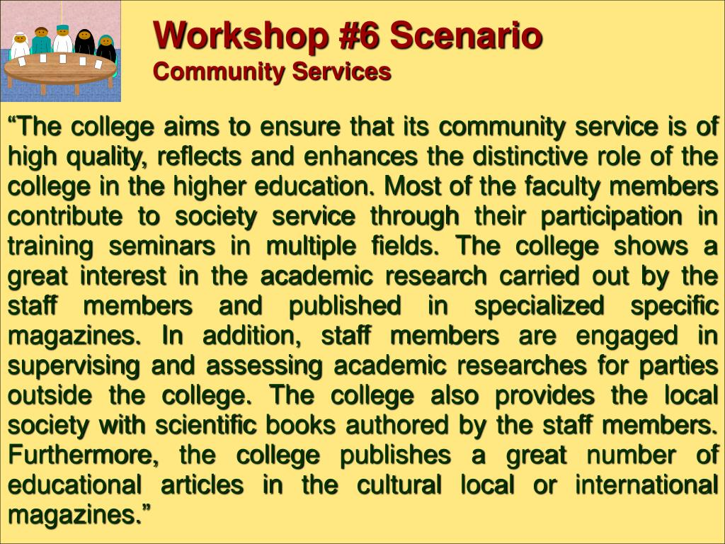 Workshop #6 Scenario