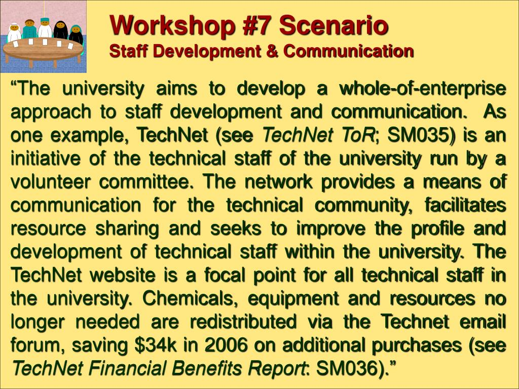 Workshop #7 Scenario