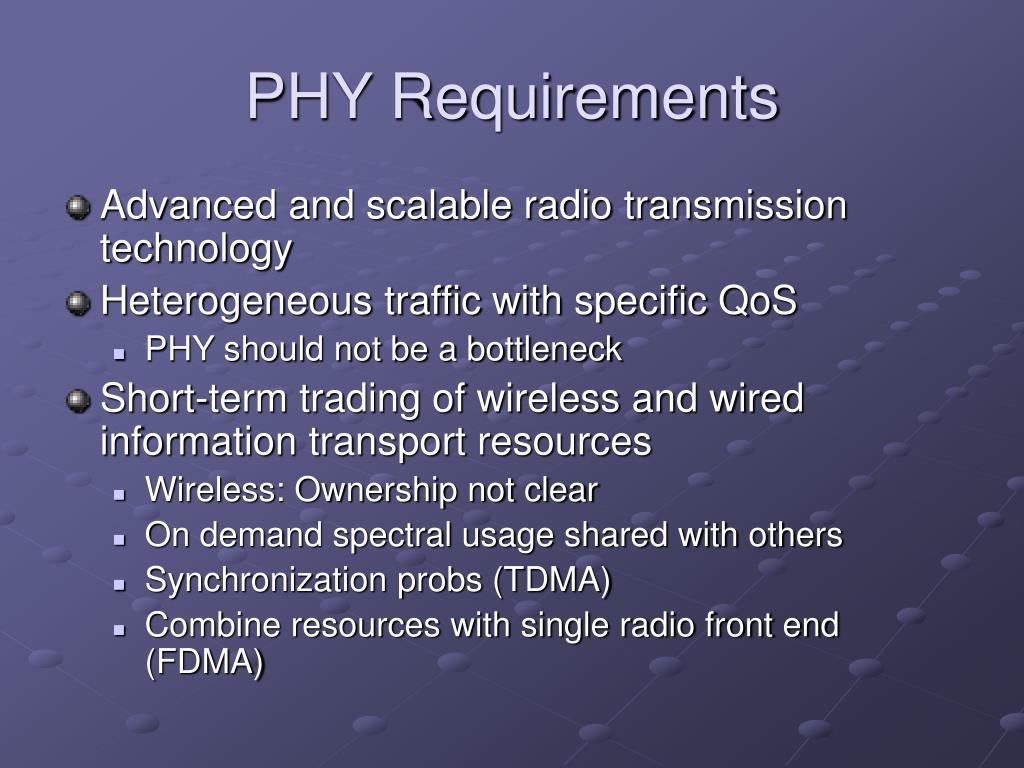 PHY Requirements
