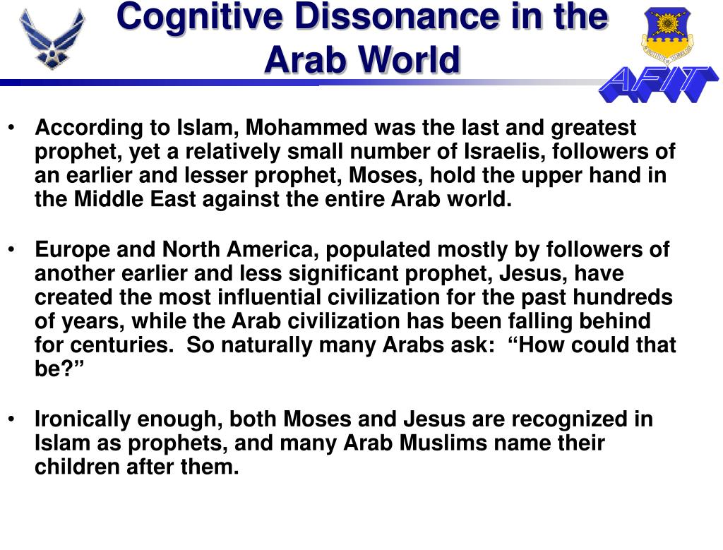 Cognitive Dissonance in the Arab World