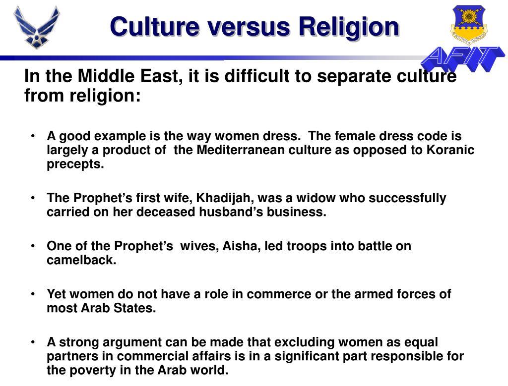 Culture versus Religion