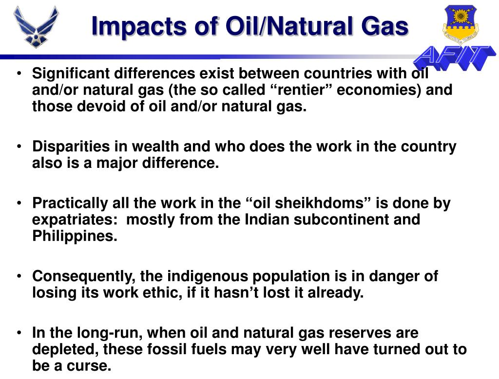 Impacts of Oil/Natural Gas