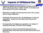 impacts of oil natural gas