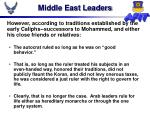 middle east leaders
