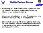 middle eastern biases