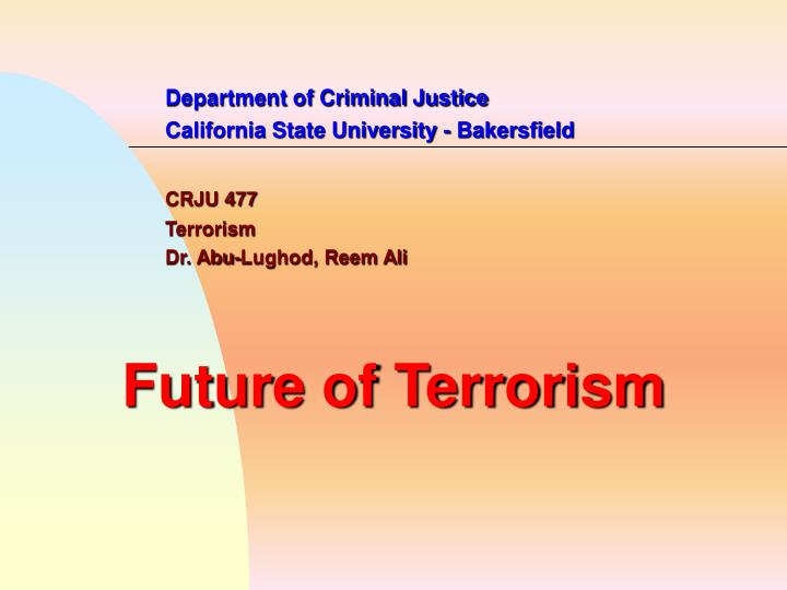 Department of Criminal Justice